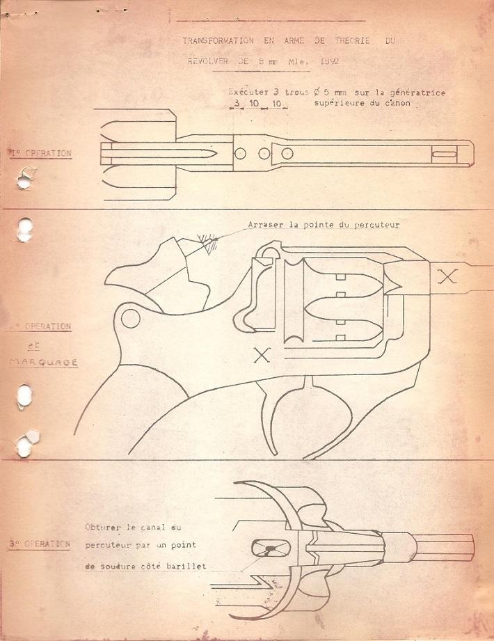 Revolver de 8mm modèle 1892 de théorie. 00211