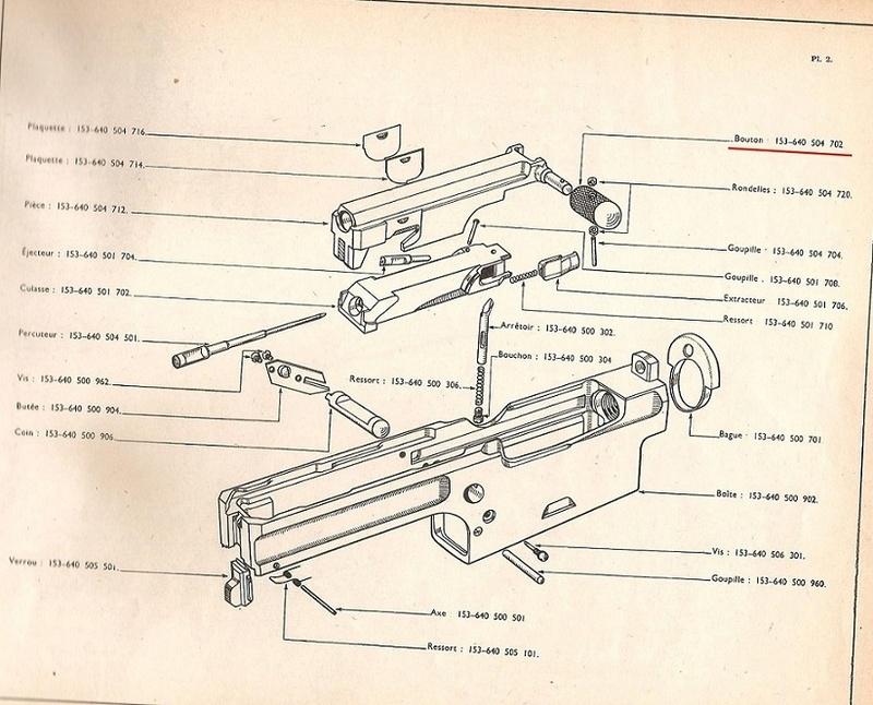 Leviers d'armement MAS 49 153-6410