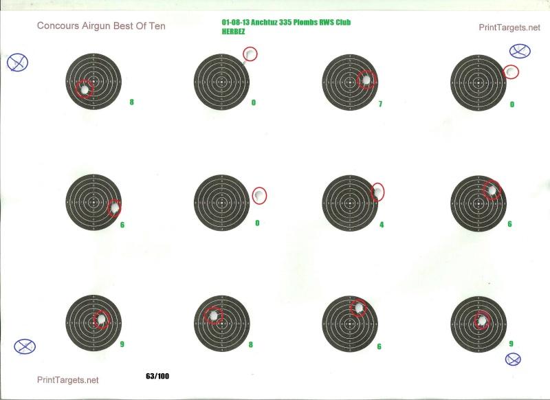 Grand Concours été 2013  Carabine 10m  sur cible C.C. 100 points  Numari20