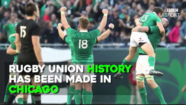 Ireland beat All-Blacks for first time in 111 years. Captur11