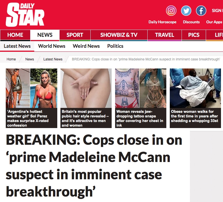 Madeleine McCann: Portuguese Police 'closing in on number one suspect' in Portugal 1110