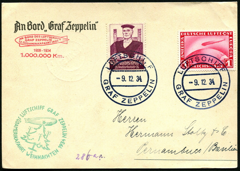 LZ 127 Weihnachtsfahrt 1934 Lz_12710