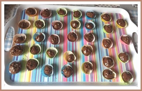Bouchées de pâte d'amande au chocolat Bouchz10