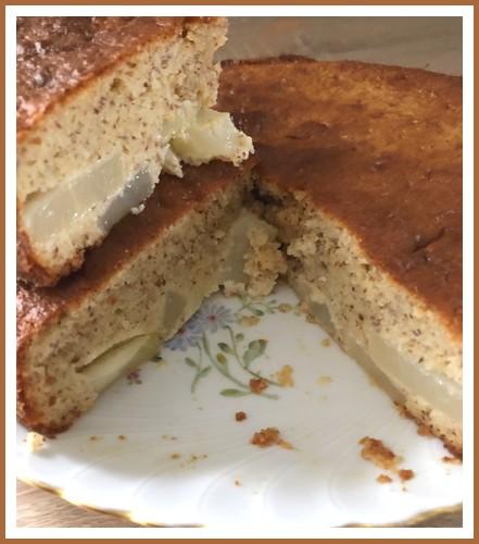 Gâteau au yaourt poires amandes Gzetea15