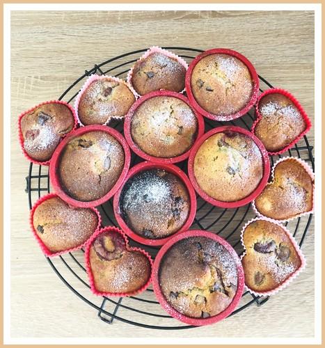 Muffins cerises-chocolat noir Muffin10