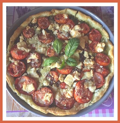 Tarte au pesto, tomates et feta  Tarte_10