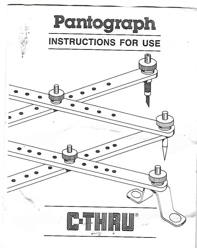 [Sold!] C-THRU Brand Metal Pantograph Enlarger/Reducer C-thru11