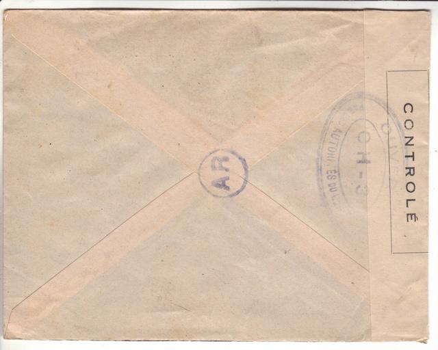 Lettre censurée de Sartène du 01.10.1943 - OH-3. 11001510