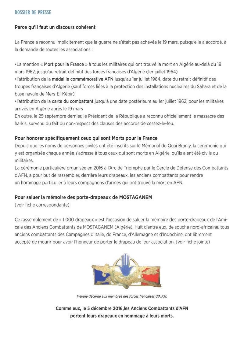 1.000 drapeaux pour nos 100.000 morts en AFN lundi 5 décembre 2016 à PARIS ravivage de la flamme à l'ETOILE de l'arc de triomphe 17h30 1000_d15