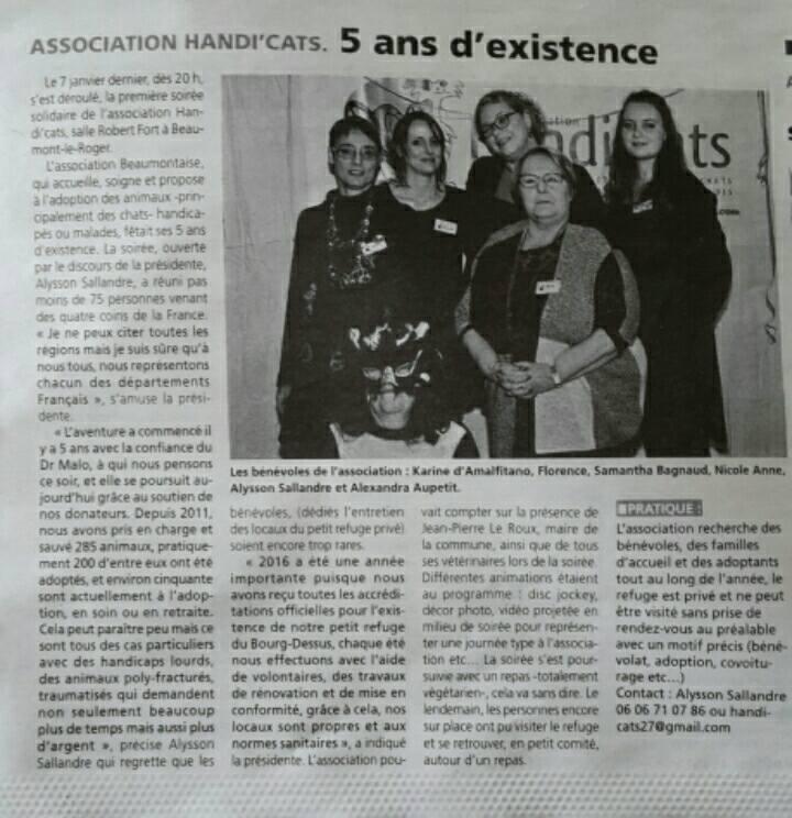 Soirée solidaire - Articles de presse 16174610