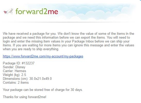 [Tuto] Achat sur Disney Store UK avec Forward2me Captur18