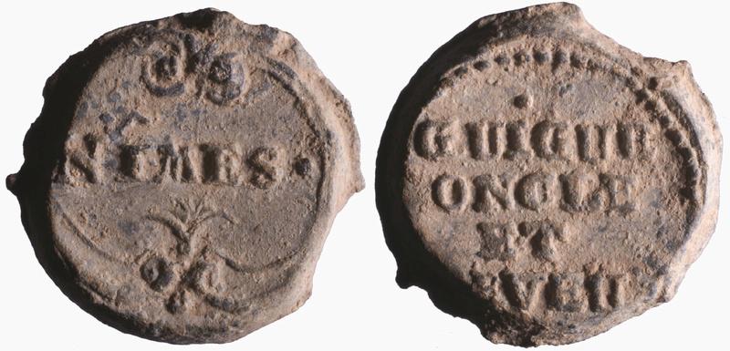 Les plombs de soyeux de Nîmes. D158510