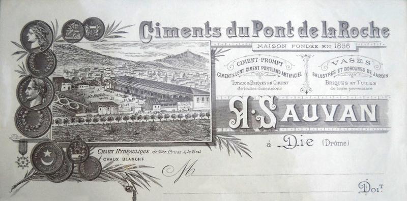 Dept:26 Drôme Ciments A. Sauvan  à Die   D6072a10