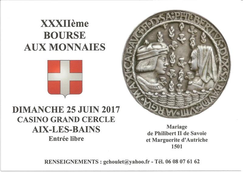 32ème BOURSE AUX MONNAIES D'AIX-LES-BAINS. 25 JUIN 2017. Carte_13