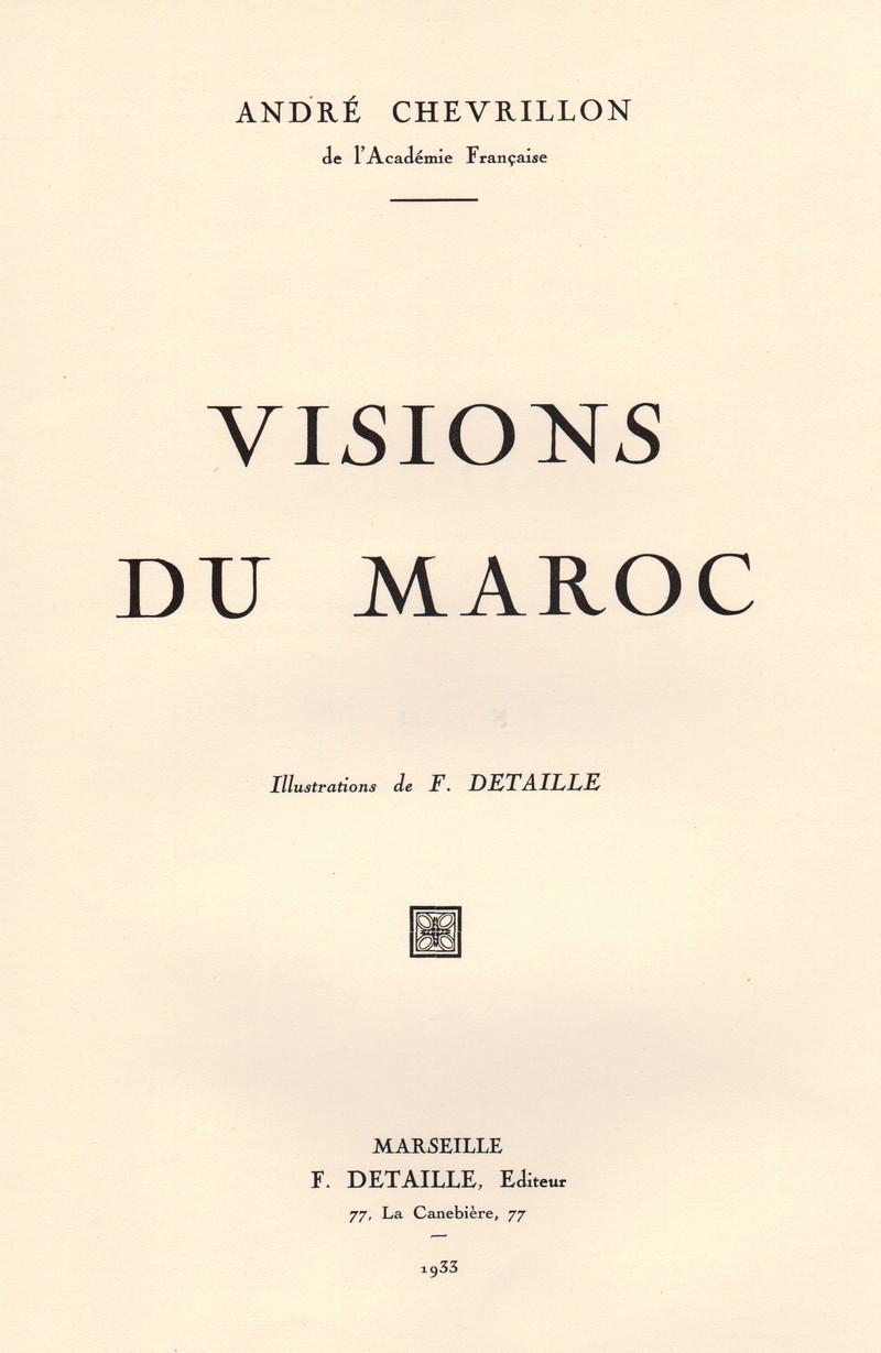 VISIONS DU MAROC, André CHEVRILLON. 01-vis10