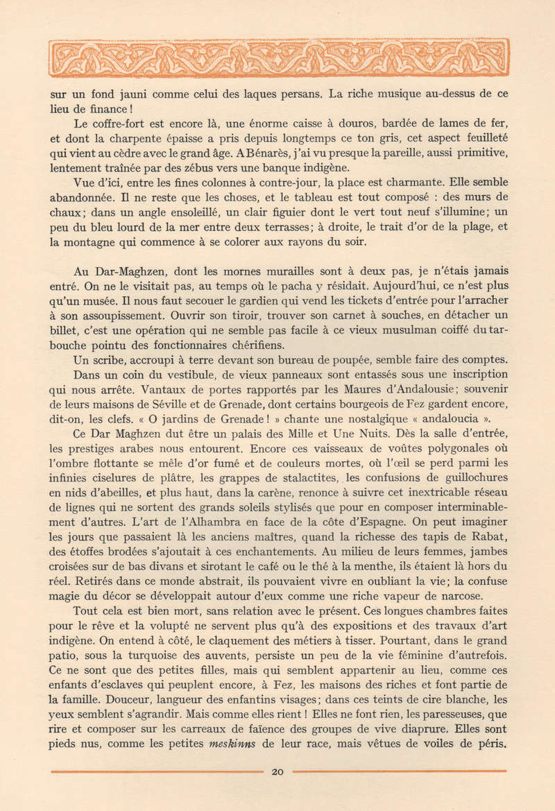 VISIONS DU MAROC, André CHEVRILLON. 13-vis10