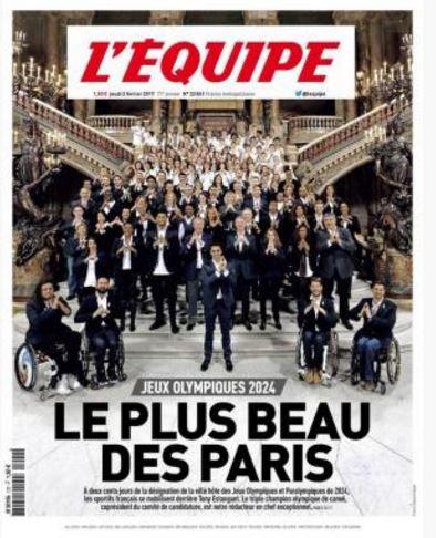 CANDIDATURE JEUX OLYMPIQUES PARIS 2024 Jo202410