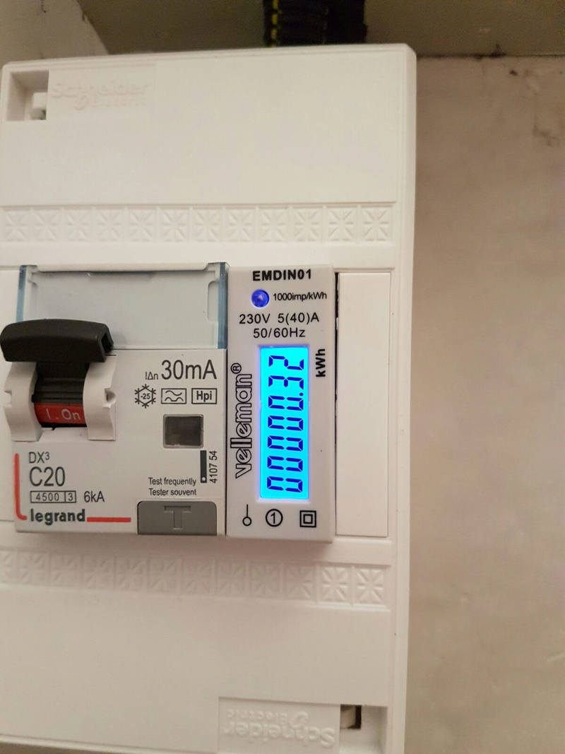 Coût d'une recharge sur borne domestique : TEST réel  Compte10