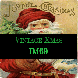 Xmas Vintage Paintings Set 2 & Christmas Cushions Set 1 by InaMac69 Vintxm11