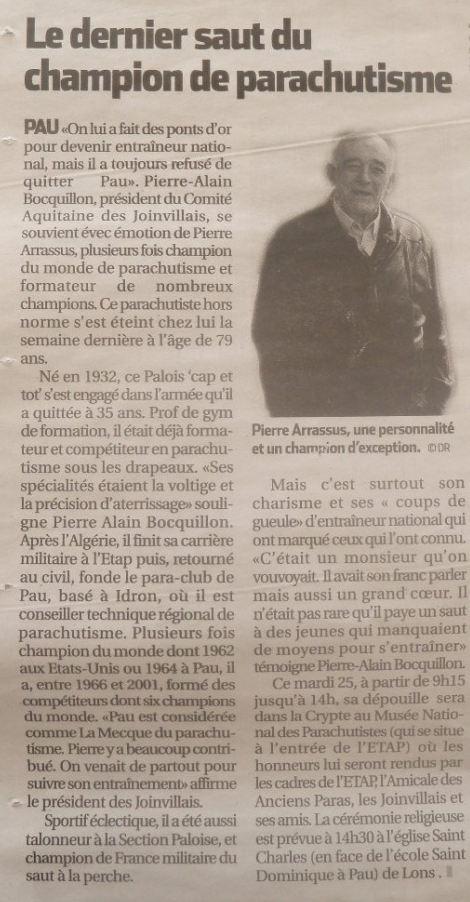 Pierre ARRASSUS, fondateur du para club de Pau basé à d'Idron  Champi10