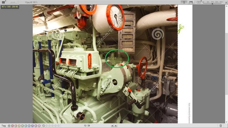 U-Boat 1/48 Trumpeter Motori10