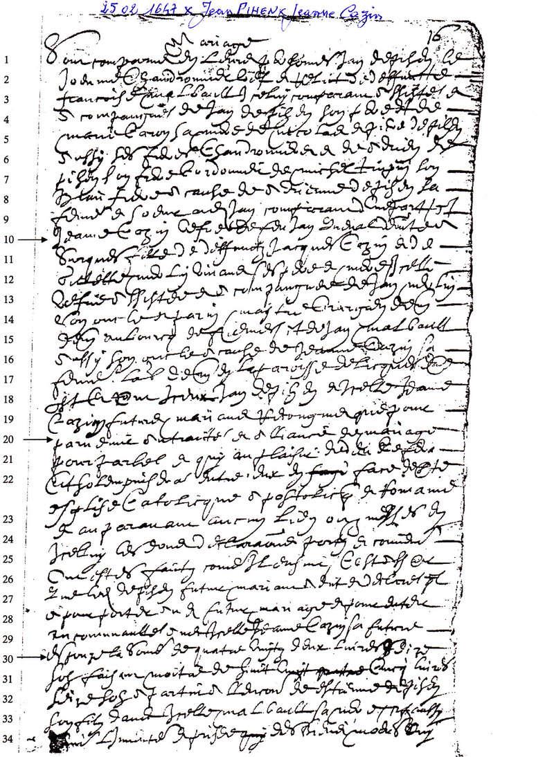 contrat Mariage Pihen Cazin 1647 1647_x12