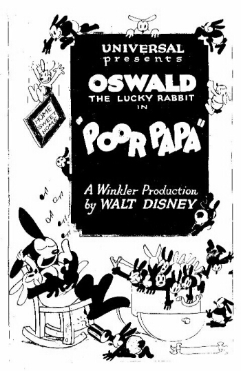 [Cartoon Walt Disney] Oswald le Lapin Chanceux : Pauvre Papa 017