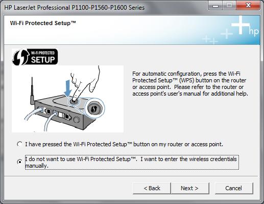 Cài đặt HP LaserJet P1102w để in qua mạng không dây Hp3g10
