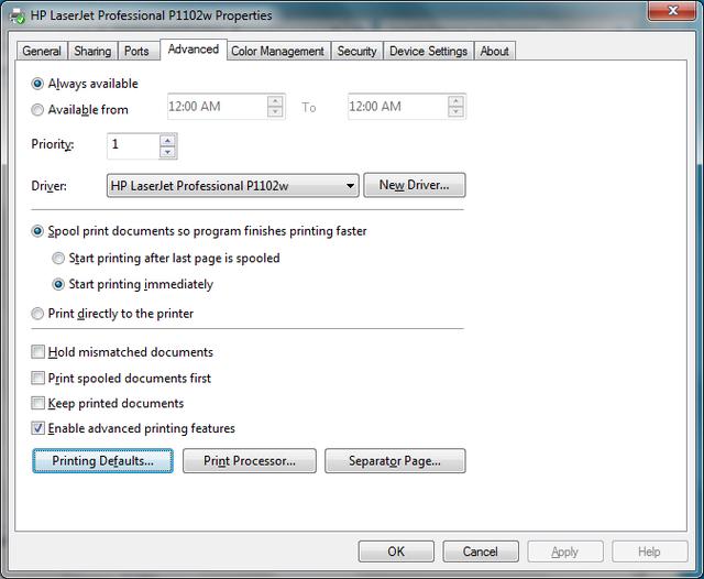 Cài đặt HP LaserJet P1102w để in qua mạng không dây Hp5c10