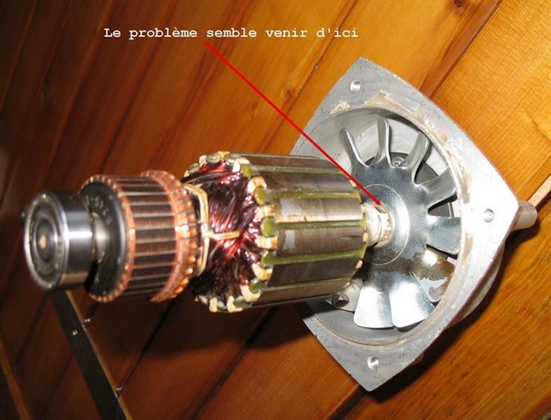 Problème moteur défonceuse Feidwood 00521