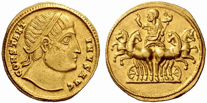 Le monnayage des vicennalia de 326 et la mort de Crispus Ric_1_10