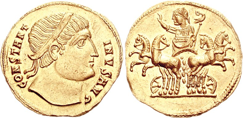 Le monnayage des vicennalia de 326 et la mort de Crispus Ric_1_14