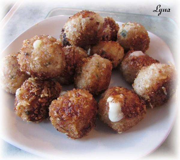 Boulettes de porc croustillantes à la mozzarella Boulet12