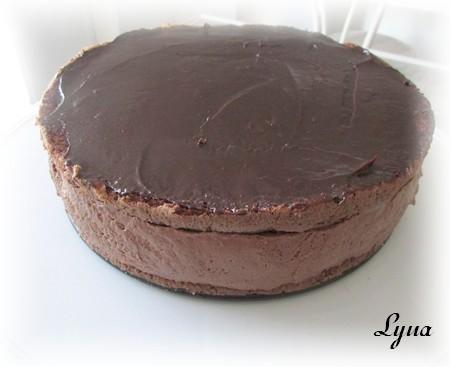 Gâteau mousse au chocolat et profiteroles Gynois13