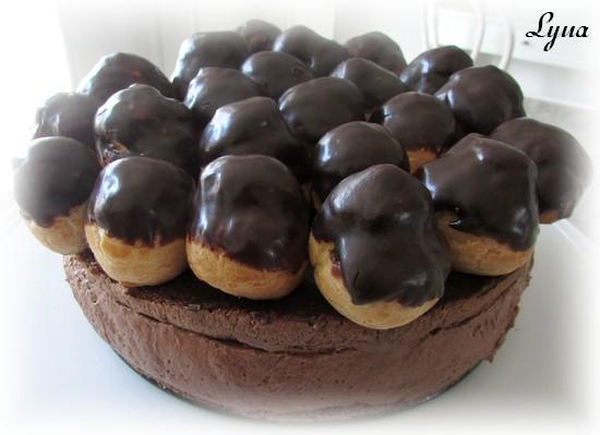 Gâteau mousse au chocolat et profiteroles Gynois14