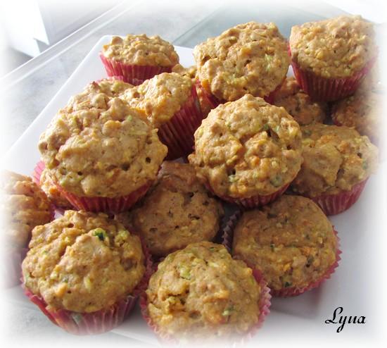 Mini-muffins aux carottes, courgettes et céréales Fibre 1 Muffin12