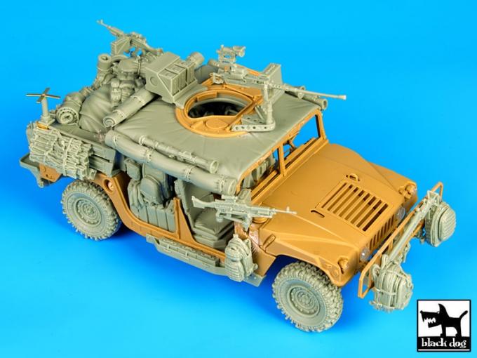 Resolu / CHERCHE l'ensemble trappe et mitrailleuse du Humvee Tamiya au 1/35 95510