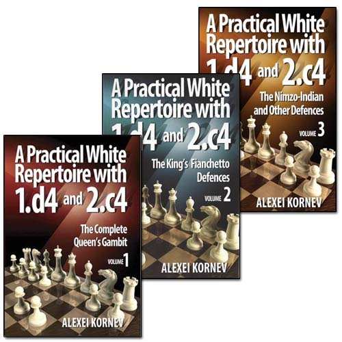 A Practical White Repertoire with 1.d4 and 2.c4 Volume 1, 2 and 3 - Alexei Kornev Cb049810