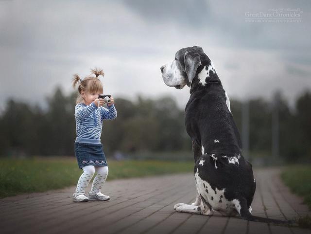 De sublimes photos d'enfants tout-petits et leurs gros chiens 1610