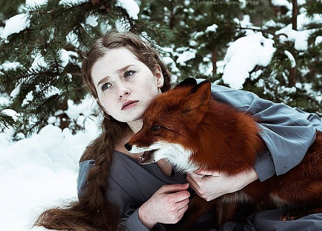 Elle créer des clichés sublimes avec des renards... 711