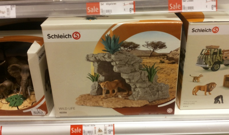 Schleich and Bullyland figures in store Kaufhof Munich 20160520