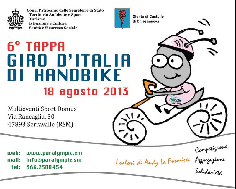 Giro d'Italia di Handbike Sanmar10