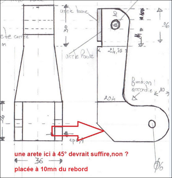 Fabrication vente rallonge cale pieds arriére. Calepi10