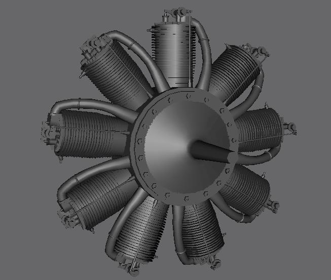 Hélice sur Nieuport 11 - Demande d'information. Moteur10