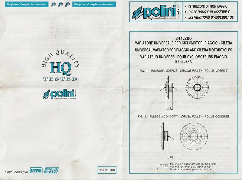 Correcteur de couple - transmission Vario Istruz10