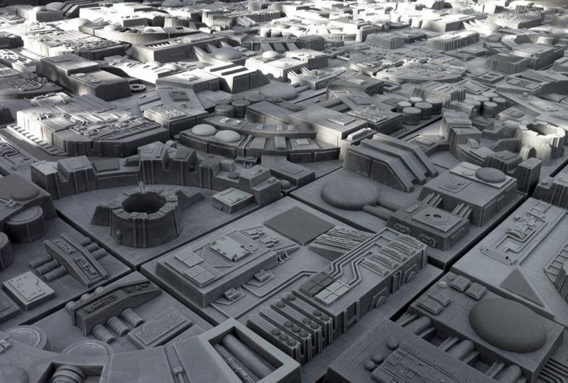Mur tranchée Death Star Tuiles11