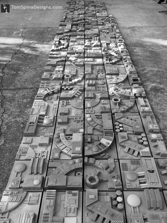 Mur tranchée Death Star Tuiles12