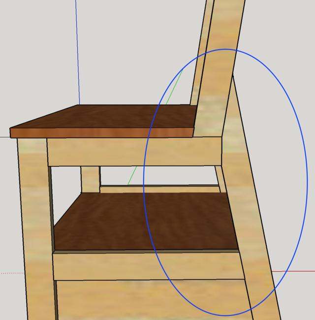 Chaise porte-serviette + tiroir Angle10