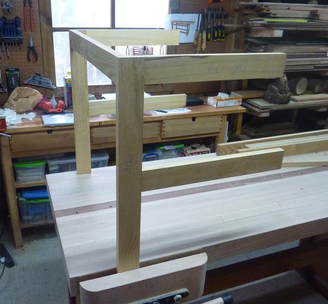 Chaise porte-serviette + tiroir Blanc310