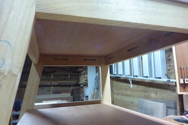 Chaise porte-serviette + tiroir Chaise12